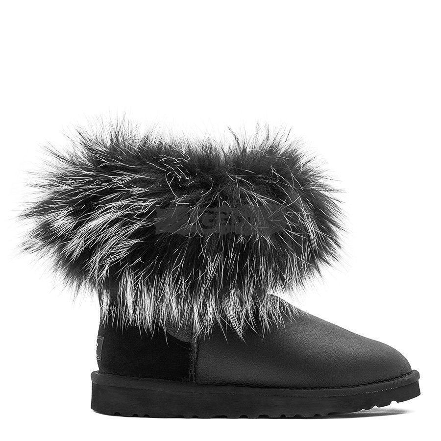Mini Fox Fur Ultra Metallic Black