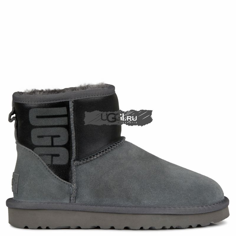 Classic Mini Ugg Rubber Boot Grey