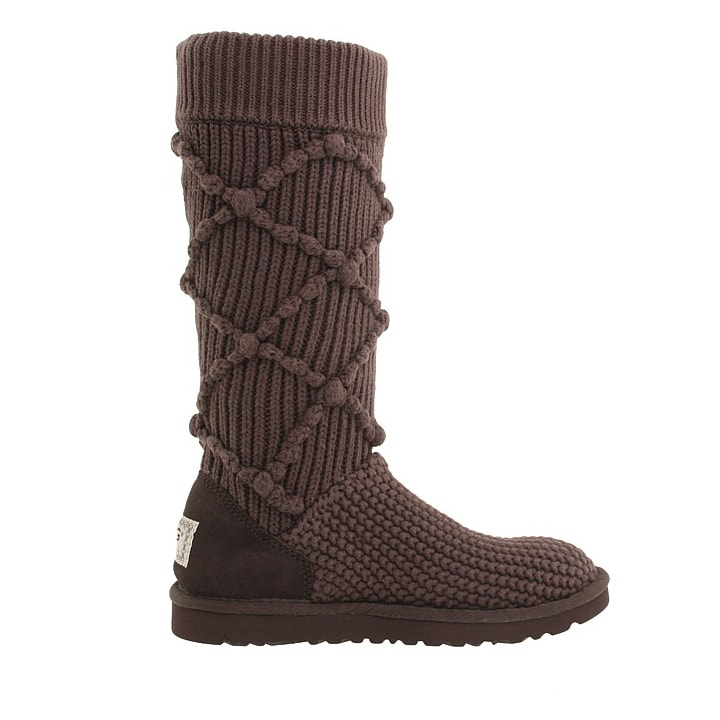 Argyle Knit Chocolate