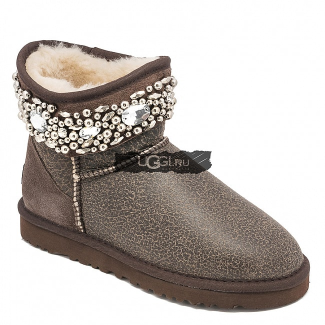 UGG Jimmy Choo Multicrystal Bomber Chocolate.  №2