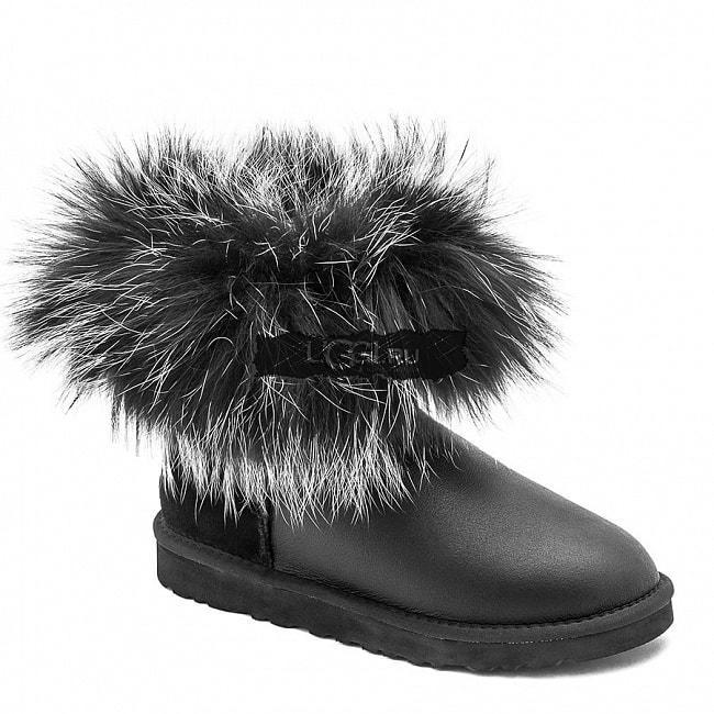 Mini Fox Fur Ultra Metallic Black.  №2