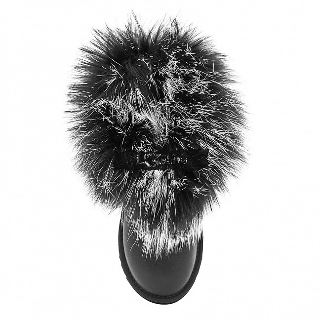 Mini Fox Fur Ultra Metallic Black.  №3