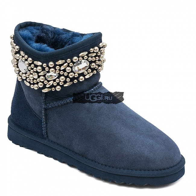 UGG Jimmy Choo Multicrystal Navy.  №2