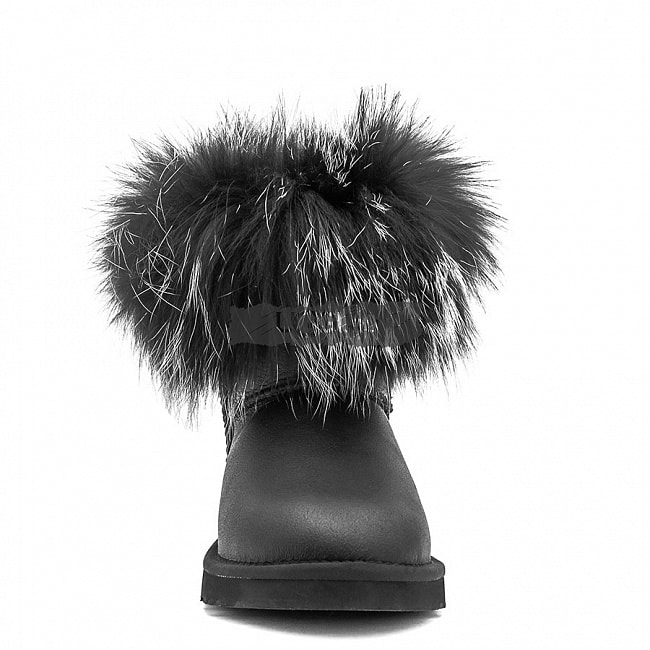 Mini Fox Fur Ultra Metallic Black.  №4