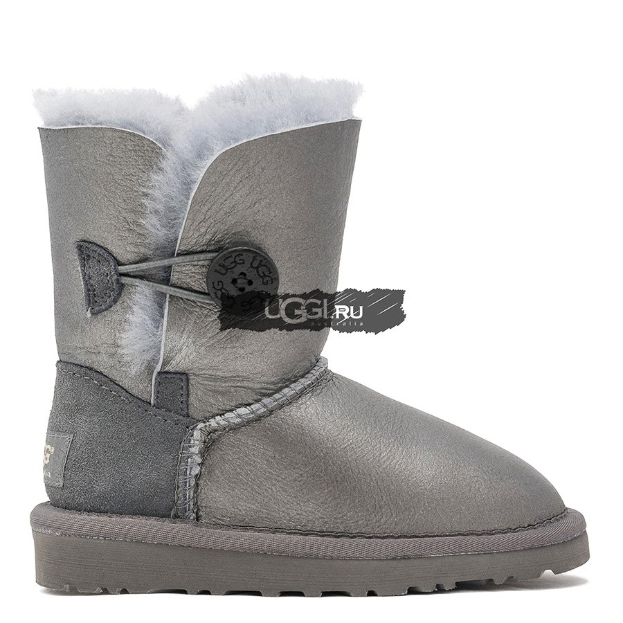 KIDS Bailey Button Metallic Grey