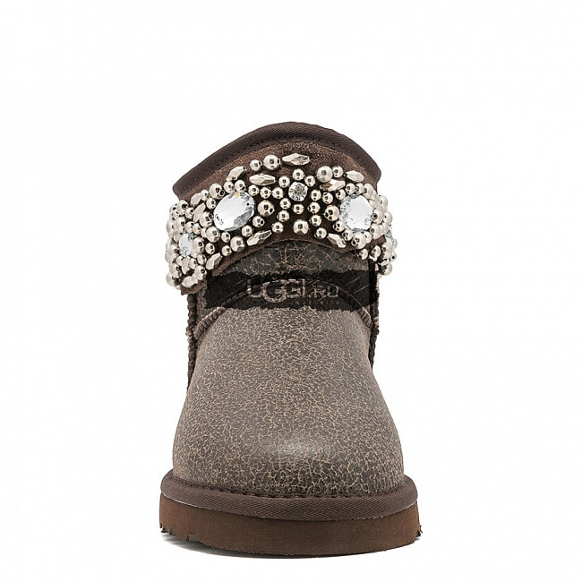 UGG Jimmy Choo Multicrystal Bomber Chocolate.  №3