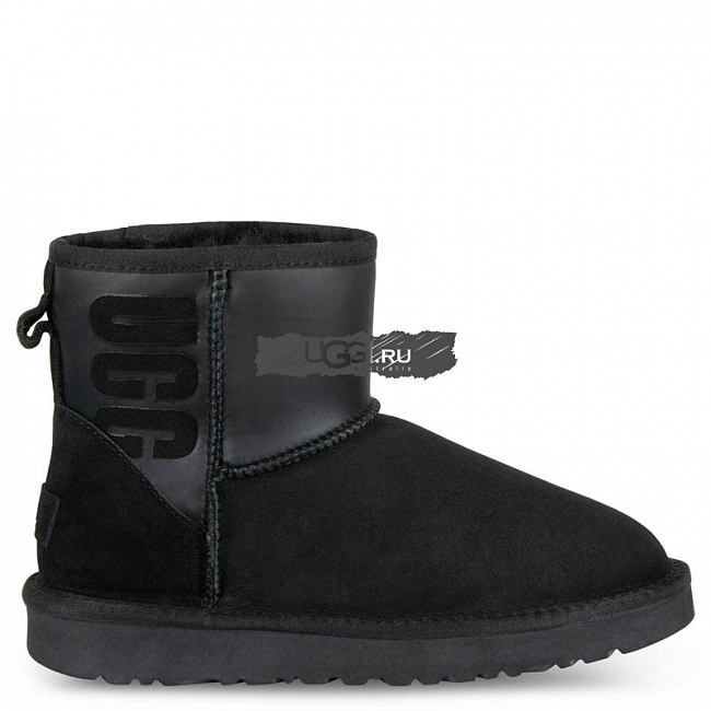 Classic Mini Ugg Ruber Boot Black