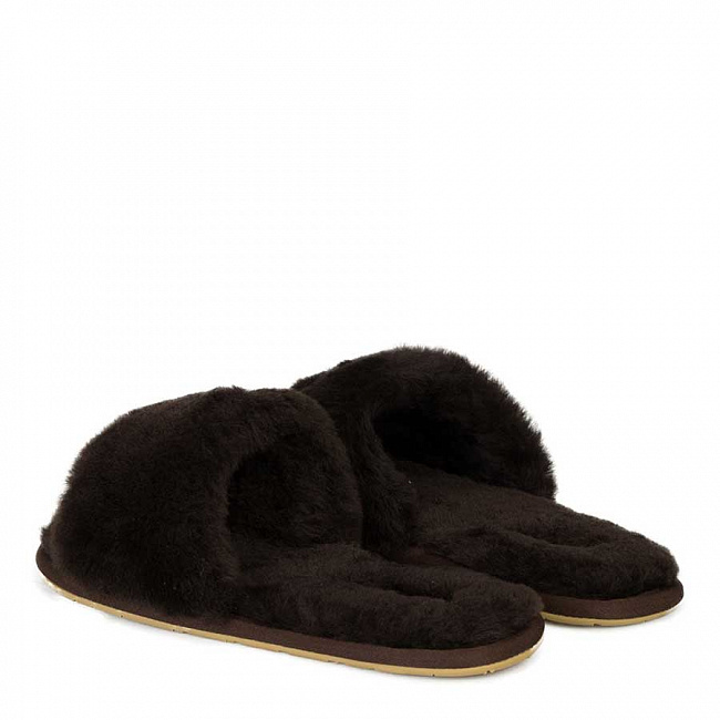 Fluff Slide Slippers Chocolate.  №2