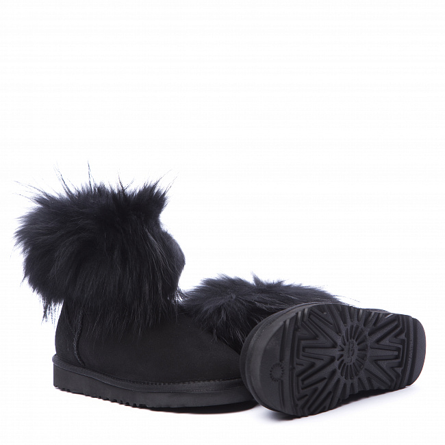 Mini Fox Fur Total Black.  №4