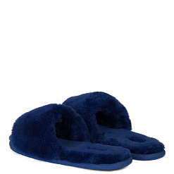 Fluff Slide Slippers Navy