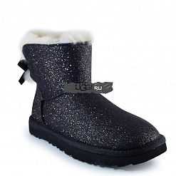 Mini Bow Sparkle Fashion Boot Black