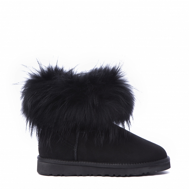 Mini Fox Fur Total Black.  №2