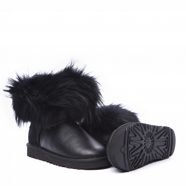 Mini Fox Fur Metallic Black (Black Fur).  №5