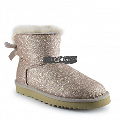 Mini Bow Sparkle Fashion Boot Gold