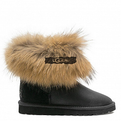 Fox Fur Mini Metallic Black 1