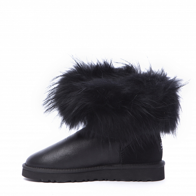 Mini Fox Fur Metallic Black (Black Fur).  №7