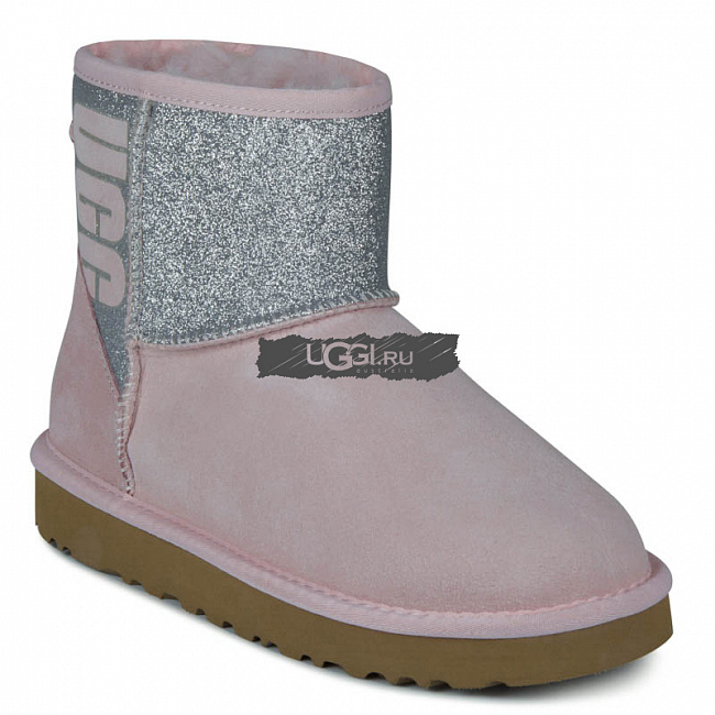 Classic Mini Sparkle Boot Pink.  №2