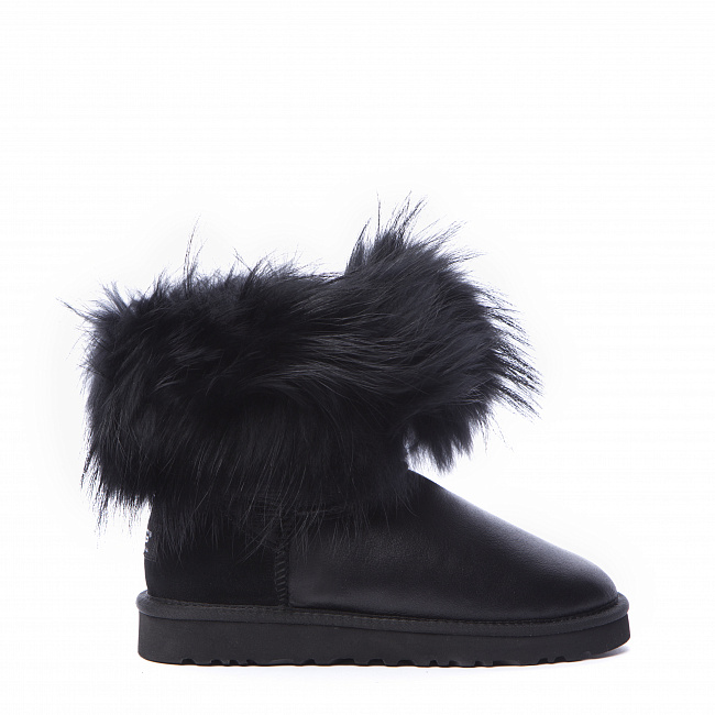 Mini Fox Fur Metallic Black (Black Fur).  №2
