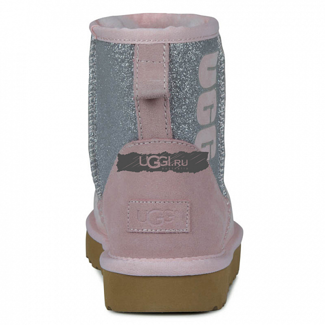 Classic Mini Sparkle Boot Pink.  №4