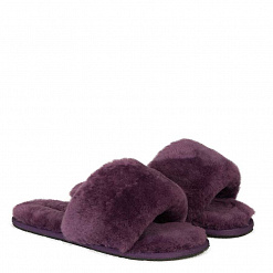 Fluff Slide Slippers Violet 1
