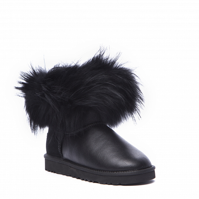 Mini Fox Fur Metallic Black (Black Fur).  №3