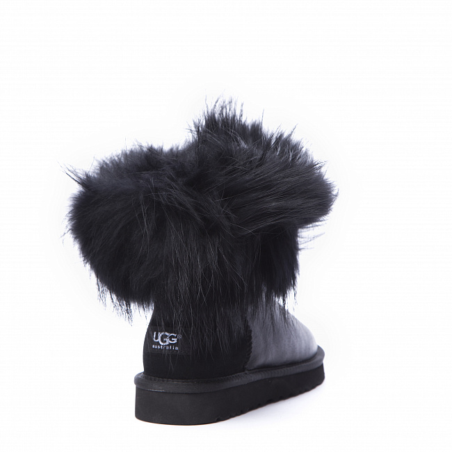 Mini Fox Fur Metallic Black (Black Fur).  №6