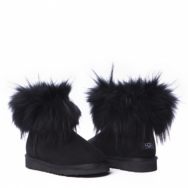Mini Fox Fur Total Black.  №3