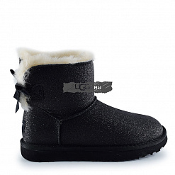 Mini Bow Sparkle Fashion Boot Black 1