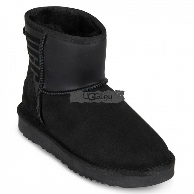 Classic Mini Ugg Ruber Boot Black.  №2