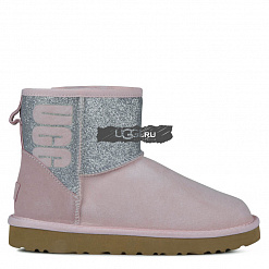 Classic Mini Sparkle Boot Pink