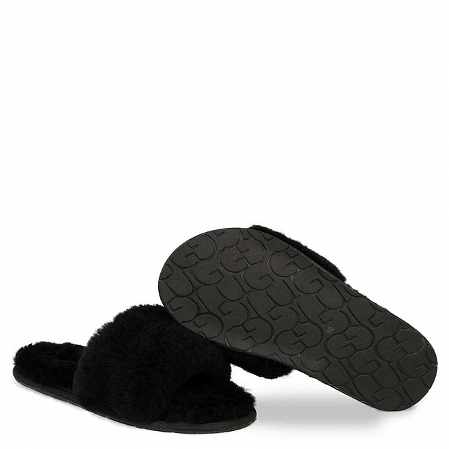 Fluff Slide Slippers Black.  №2